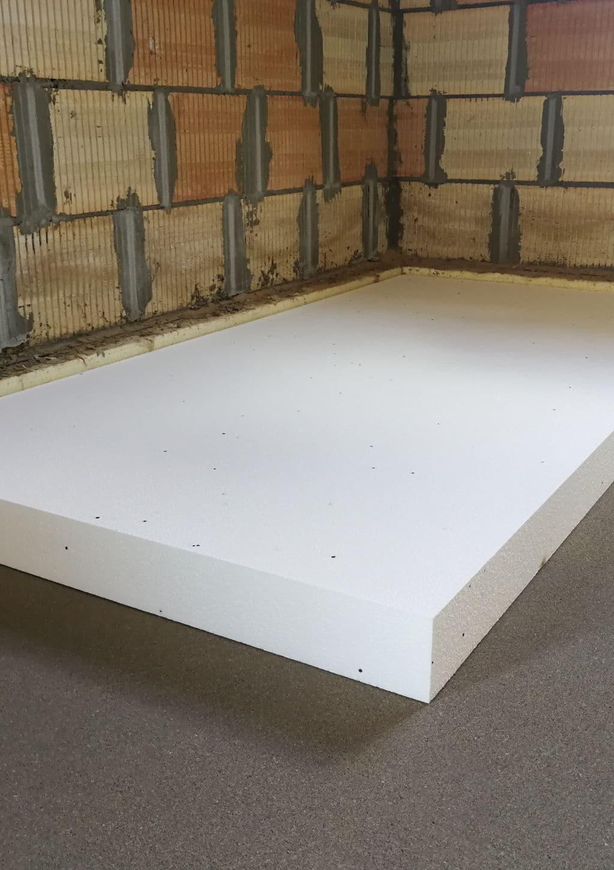 betonnen vloer isolatie aan bovenkant